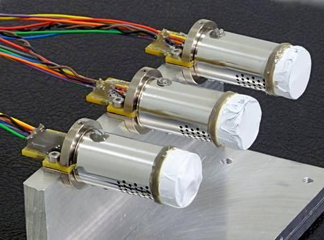Schiaparelli-laskeutujan sääasemassa on yksi tällainen DREAMS-H-instrumentti, joka mittaa Marsin kaasukehän suhteellista kosteutta.