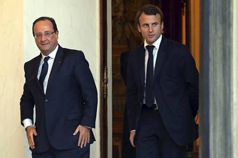 Francois Hollande ja Emmanuel Macron lokakuussa 2013.