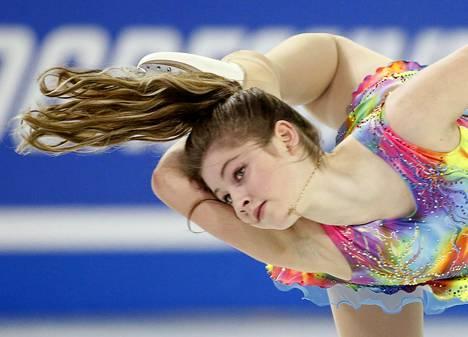 Lipnitskaja luisteli viimeiset kilpailunsa taitoluistelun huipputasolla talvella 2016.