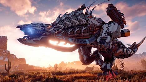 Horizon Zero Dawn on edelleen erittäin näyttävä peli. Kuva on otettu pelin pc-versiosta.