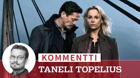 Suomessa Silta-sarjaa on seurattu kesästä 2013 asti. Sagan (Sofia Helin) poliisiparina oli kahdella viimeisellä kaudella Henrik (Thure Lindhardt).