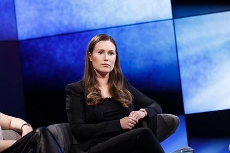 Sanna Marin esiintyi A-studiossa tiistai-iltana.