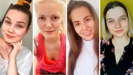 Nämä neljä suomalaisnaista viihtyvät ilman meikkiä.