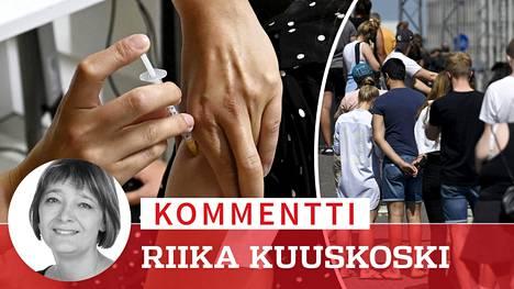 Kesäkuun lopussa Jätkäsaaren koronarokotepisteelle jonotettiin Helsingissä.