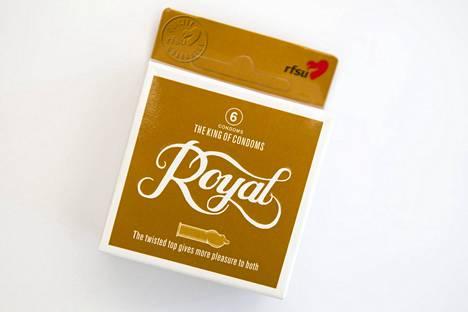 Royal – kierteinen kondomi, kondomien kuningas. Myyntiin vuonna 2006.