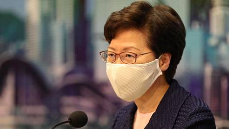 Hongkongin hallintojohtaja Carrie Lam.