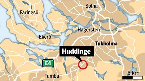 Kahta lasta ammuttiin lauantaina Flemingsbergin lähiössä Huddingen kunnassa Tukholman eteläpuolella.