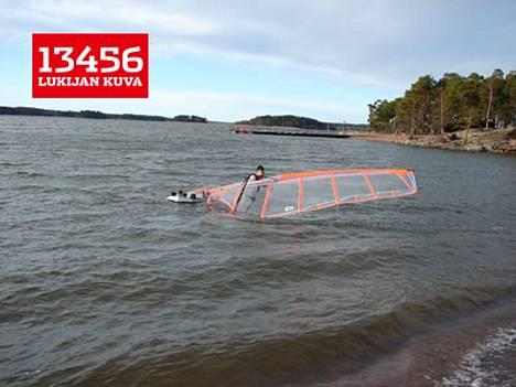 Turun Ruissalon Saaronniemen uimaranta 26. tammikuuta.