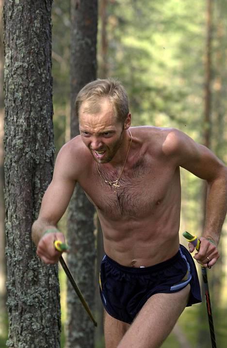 Mika Myllylä antoi harjoituskaveriensa mukaan kaikkensa harjoituksissa. Kuva vuodelta 2002.