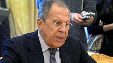 Sergei Lavrov puhui Moskovassa 4. syyskuuta.