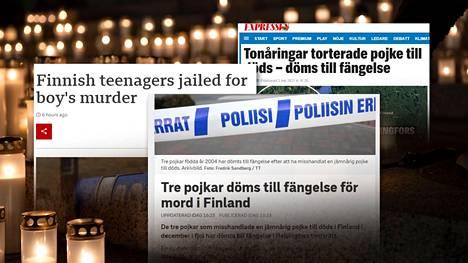 Koskelan murhatuomiot ovat ylittäneet uutiskynnyksen myös ulkomailla.