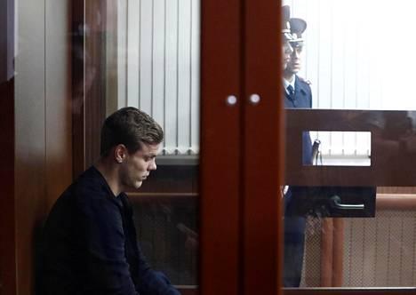 Aleksandr Kokorin kuvattuna oikeuskäsittelyssä torstaina lokakuun 11. päivä.