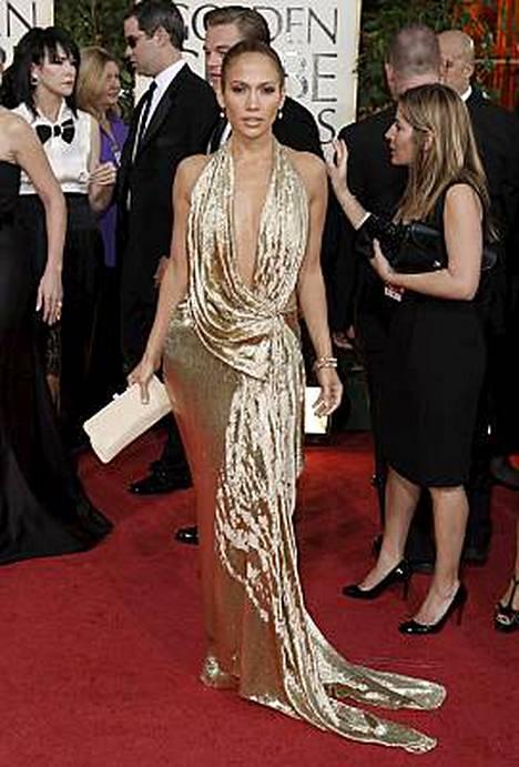 Jennifer Lopez kimalsi Golden Globe -gaalassa ilman vihkisormustaan.