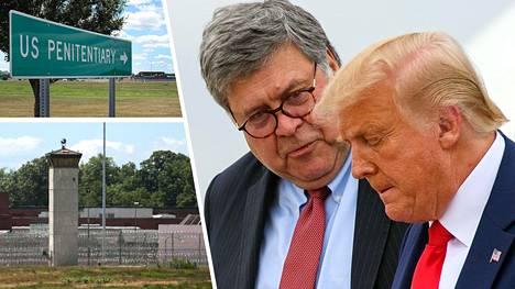 Yhdysvaltain oikeusministeri William Barr ja presidentti Donald Trump kannattavat kuolemantuomiota.