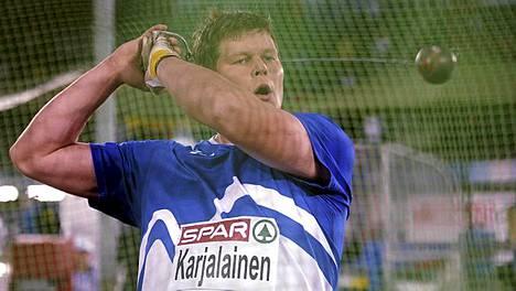 Olli-Pekka Karjalainen heitti kymmenenneksi.