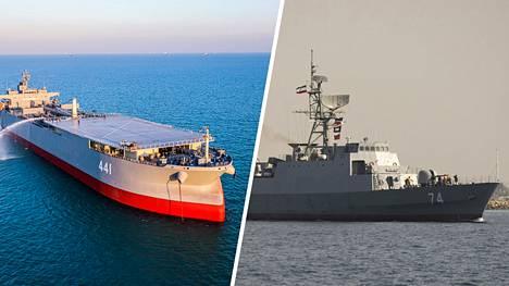Iranilaiset sotalaivat Makran ja Sahand purjehtivat Venäjällä.