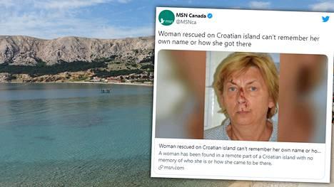 Kroatiasta Krkn saarelta löytyi nainen, joka ei tiedä, kuka hän on.