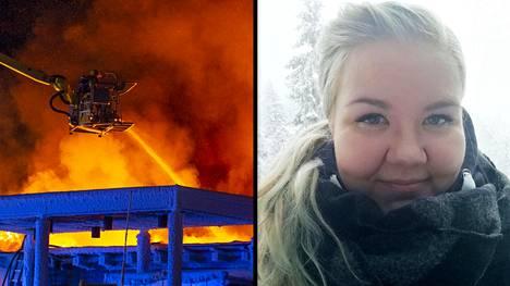Hotellin johtajan mukaan Maiju Rumpunen oli se, joka hälytti apua tulipalon syttyessä.