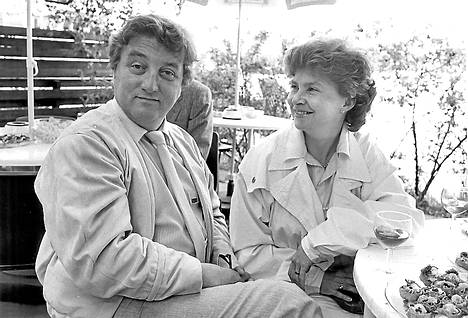 Reijo Kallio vaimonsa Inkerin kanssa vuonna 1985.