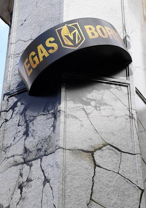 Golden Knightsin logo näkyy joka puolella Vegasissa.