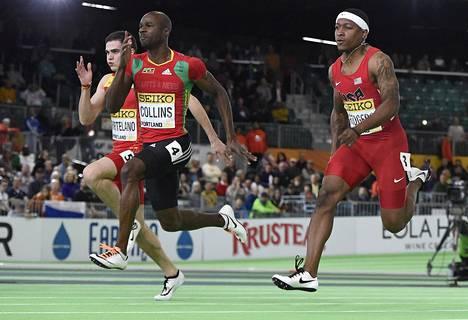 Collins jätti ison joukon nuorempia sprinttereitä taakseen yleisurheilun halli MM-kisoissa viime kuussa.