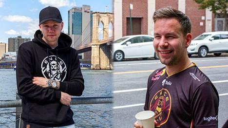 """Miikka """"suNny"""" Kemppi (vasemmalla) aloitti ENCEn kanssa pelaamisen syyskuun alkupuolella. Aleksi """"allu"""" Jalli uskoo tiimin vielä nousevan takaisin kärkikahinoihin, kunhan harjoitusaikaa siunaantuu."""
