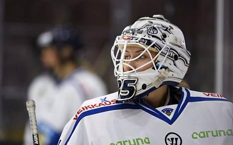 Vilma Vaattovaara kuvattuna naisten Euro Hockey Tour -kiertueen ottelussa Suomi–Venäjä helmikuussa 2017.