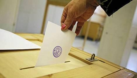 Tällaiselta näyttää nykymallinen äänestyslippu.