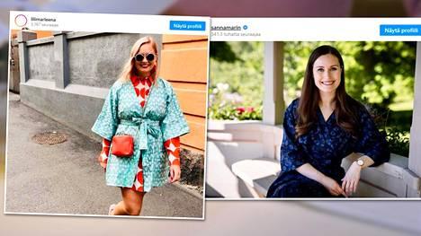 Marleena Lehtosen postittama mekko päätyi pääministerin käyttöön.