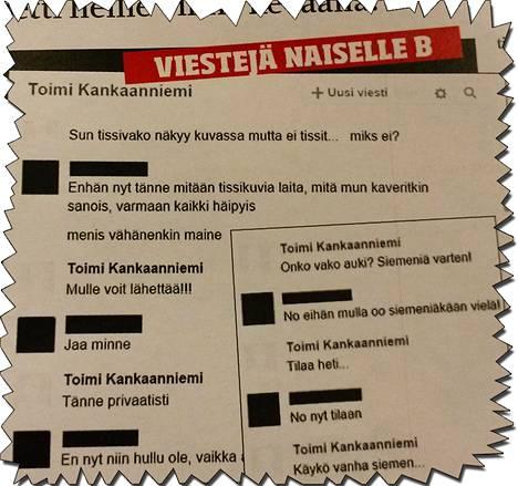Ilta-Sanomat tutustui naisten ja Kankaanniemen välisiin Facebook-viesteihin.