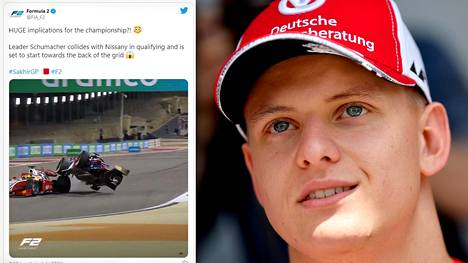 Mick Schumacherin tie F2-mestariksi vaikeutui perjantaina.
