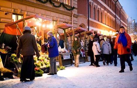 Vanhan Suurtorin Joulumarkkinat järjestetään Turussa.