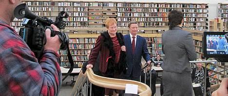 Myös Tarja Halonen oli paikalla.