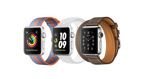 Apple Watch 3:n saa sekä itsenäisiin puheluihin kykenevänä mallina sekä ilman puhelumahdollisuutta.