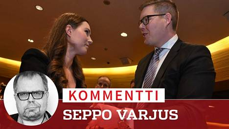 Sanna Marin sai Antti Lindtmanin onnittelut valintansa jälkeen.