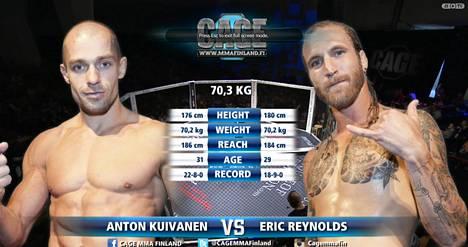 Anton Kuivanen kohtasi vapaaottelussa Erik Raynoldsin. Ottelu näkyi suorana ISTV Extrassa.