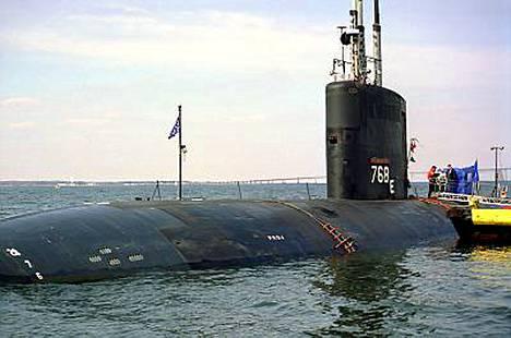 USS Hartford on nopea hyökkäyssukellusvene. Kuva vuodelta 1999.