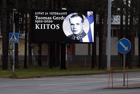 Gerdtiä muistettiin Lappeenrannassa.