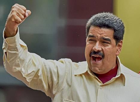 Venezuelan presidentti Nicolas Maduro syyttää Yhdysvaltoja juonittelusta.