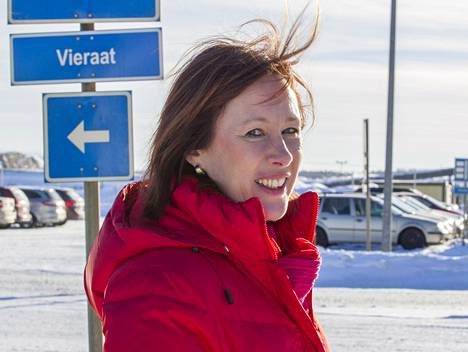 Omistajaohjaus- ja kehitysministeri Sirpa Paatero vieraili Talvivaaran kaivoksella helmikuussa.