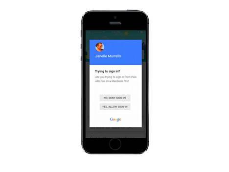 Googlen kaksisvaiheinen tunnistus puhelimessa.