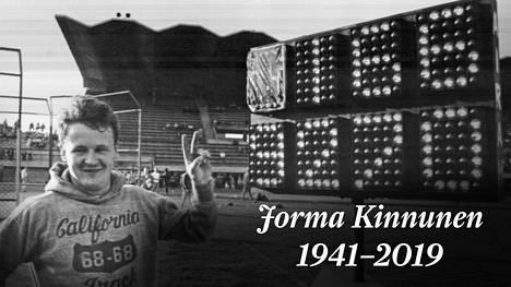 Jorma Kinnunen teki maailmanennätyksen Tampereella vuonna 1969.