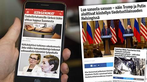 Heinäkuusta tuli nykyisen mittaustavan perusteella Ilta-Sanomien paras. Heinäkuussa lukijoita kiinnosti Donald Trumpin ja Vladimir Putinin tapaaminen Helsingissä. Thaimaan luolapiinaa Ilta-Sanomat seurasi myös tiiviisti.