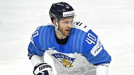 Petteri Lindbohm täräytti hienon maalin MM-finaalissa sunnuntaina.