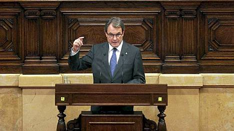 Katalonian aluehallinnon johtaja Artur Mas.