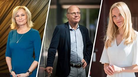 Eija-Riitta Korhola, Kimmo Sasi ja Aura Salla ovat kokoomuksen haastajia.