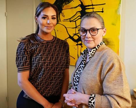 Sofia Belórf ja hänen psykoterapeuttinsa Riina Luomanperä nähdään Sofina salaisuudet -sarjan neljännessä jaksossa.
