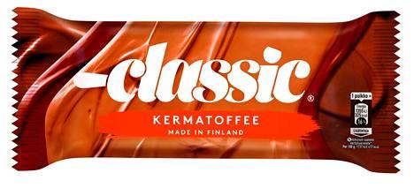 Classic Kermatoffee -puikko nousi myydyimpien kerta-annosjäätelöiden listalle sekä S- että K-ketjun kaupoissa.