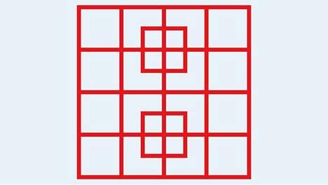Löydätkö tästä kuvasta kaikki neliöt? Kuvapähkinän on kehittänyt nimimerkki fprzaa10 Playbuzz-sovelluksessa.