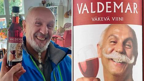 Valdemar-viinin etikettiä koristaa Shahrzad Hazratin iloinen ilme.